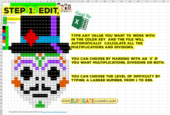 Pixel Day of the Dead 1 - Multiplications and Divisions